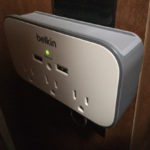 The Belkin extra outlets/USB power source.