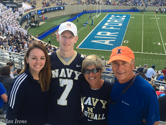 Enjoying Navy vs Air Force Football with family.