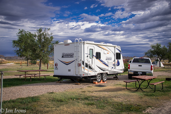 Our commercial campground just outside Badlands Nat'l Park in Interior.
