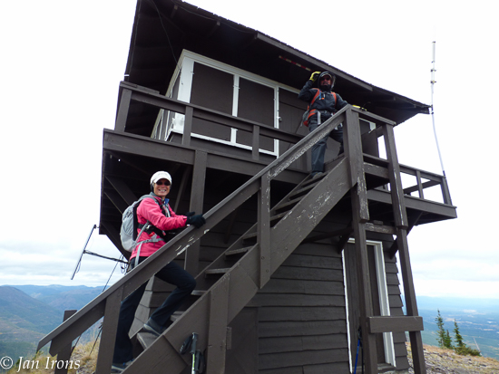 SUCCESS! Made it to the lookout tower at the top.